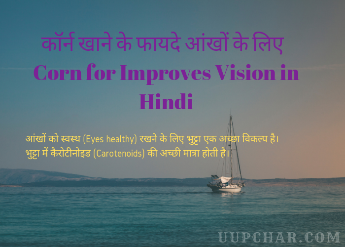 Corn for Improves Vision in Hindi