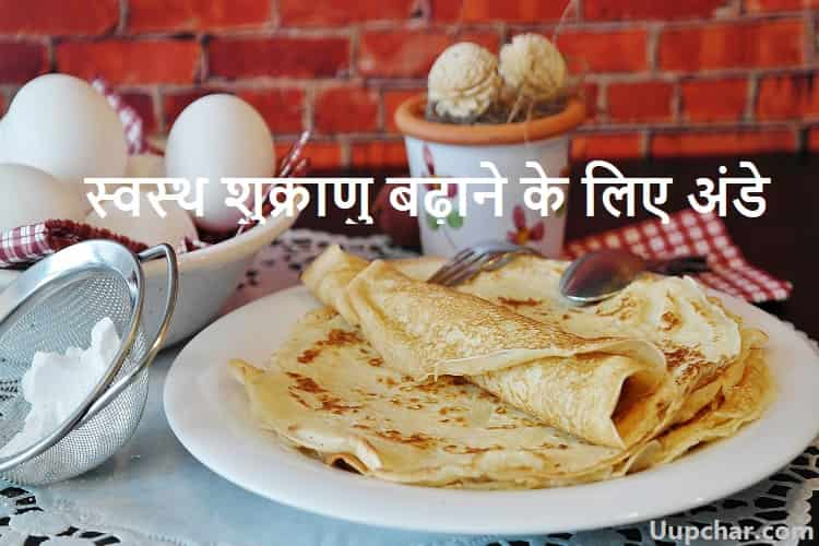 Eggs to increase healthy sperm in Hindi